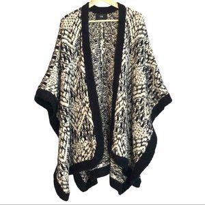 LINE Wool and alpaca blend sweater coat